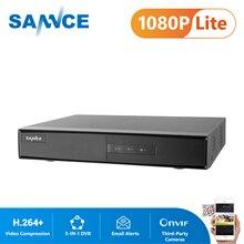SANNCE 4 kanał 8 kanał TVI DVR AHDM 5 in 1 1080N bezpieczeństwa CCTV DVR 4CH 8CH Mini hybrydowy wideorejestrator HDMI wsparcie analogowy/kamera AHD