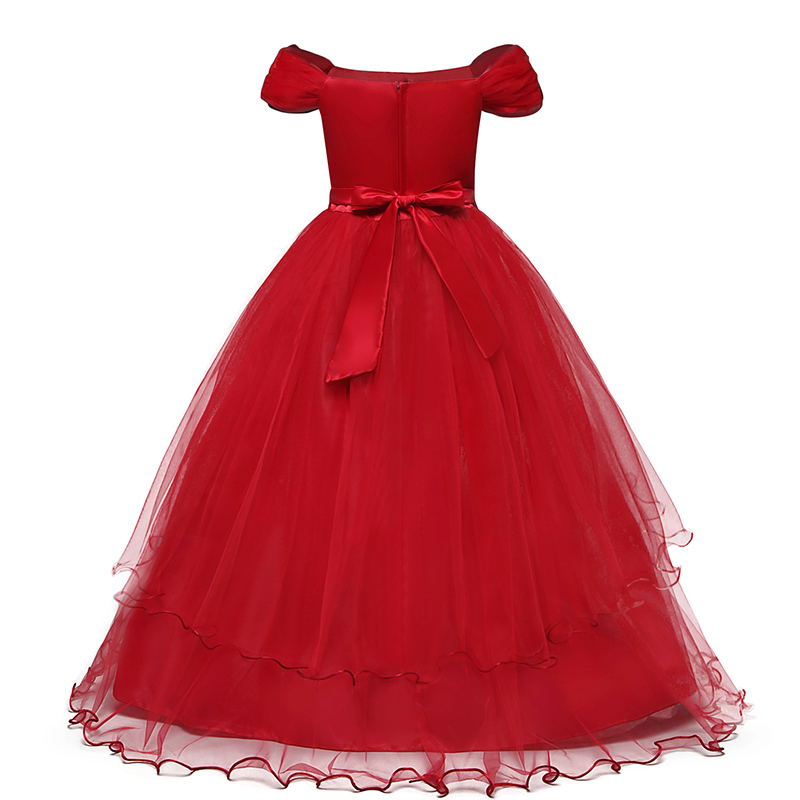Hd122792abbf44c34952aaf7d1e6ef932P Vintage Flower Girls Dress for Wedding Evening Children Princess Party Pageant Long Gown Kids Dresses for Girls Formal Clothes