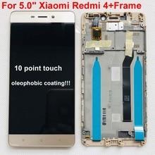 Originale Per Xiaomi Redmi 4 Standard di 2GB di RAM 16GB di ROM Schermo LCD Display + Touch Screen Digitizer per redmi 4 Versione Normale + telaio