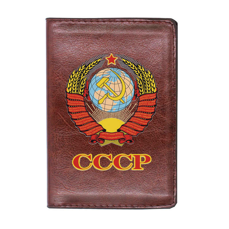 Vintage black leather Soviet purse black retro wallet Business cards calling cards holder Case for documents simple classic accessories USSR