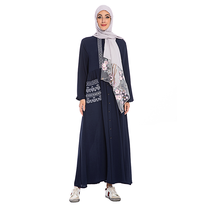 Abaya Dubai Turkish Muslim Long Sleeve Dress Caftan Marocain Kaftan Elbise Islamic Clothing Abayas For Women Islam Hijab Dresses