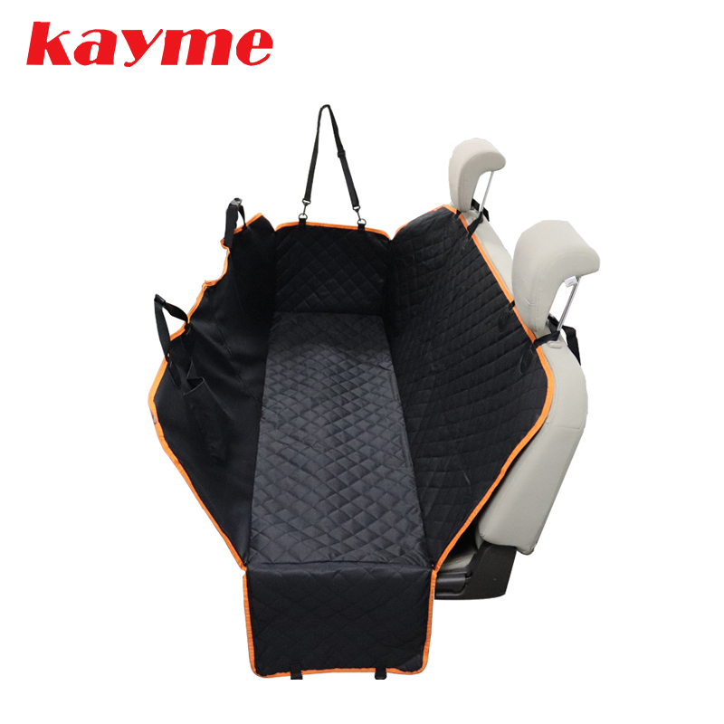 Kayme Dog Car Seat Cover,Waterproof Anti-dirty Rear Back Seat Mat ,Pet Carriers Protector Hammock Cushion With Safety Belt