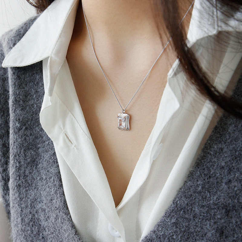 EDS Women Necklace Silver 925 Jewelry 925 Sterling Silver Pendant Necklace Chain Korean Women Necklaces Gold Necklaces