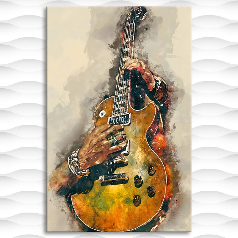 Picture Canvas Printed Painting Electric Guitar Wall Art Poster for Living Room Decor No Frame