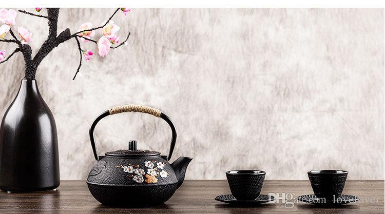 Old Chinese Cast Iron Teapot Kettle Plum Blossom Teapots 300ml / 600ml/ 800ml kitchen utensil gifts