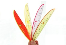 1PCS/LOT 15cm Sweet  Fruit pattern design PVC Straight ruler zakka DIY tools nice Promotional gift prize Stationery