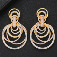 GODKI Famous 2019 Charms Trendy Women Earrings Imitation Pearl AAA Cubic Zircon Drop Earring For Women Wedding Party Accessories