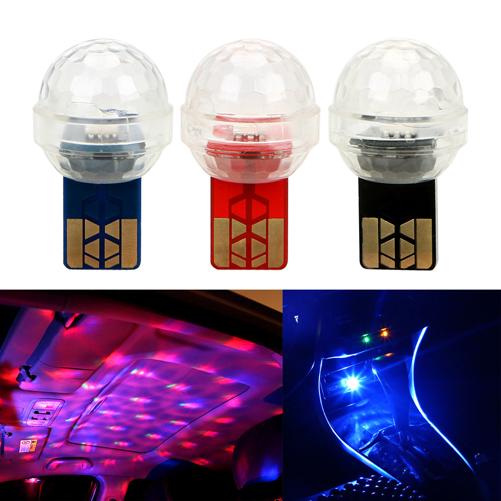 LEEPEE Ambient Lamp LED Car USB Decorative Light Mini Colorful Music Sound Lamp