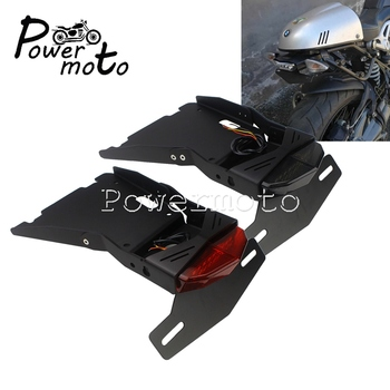 For BMW R NINE T 2014-2018 Tidy Eliminator License Plate Bracket with LED Tail Stop Light