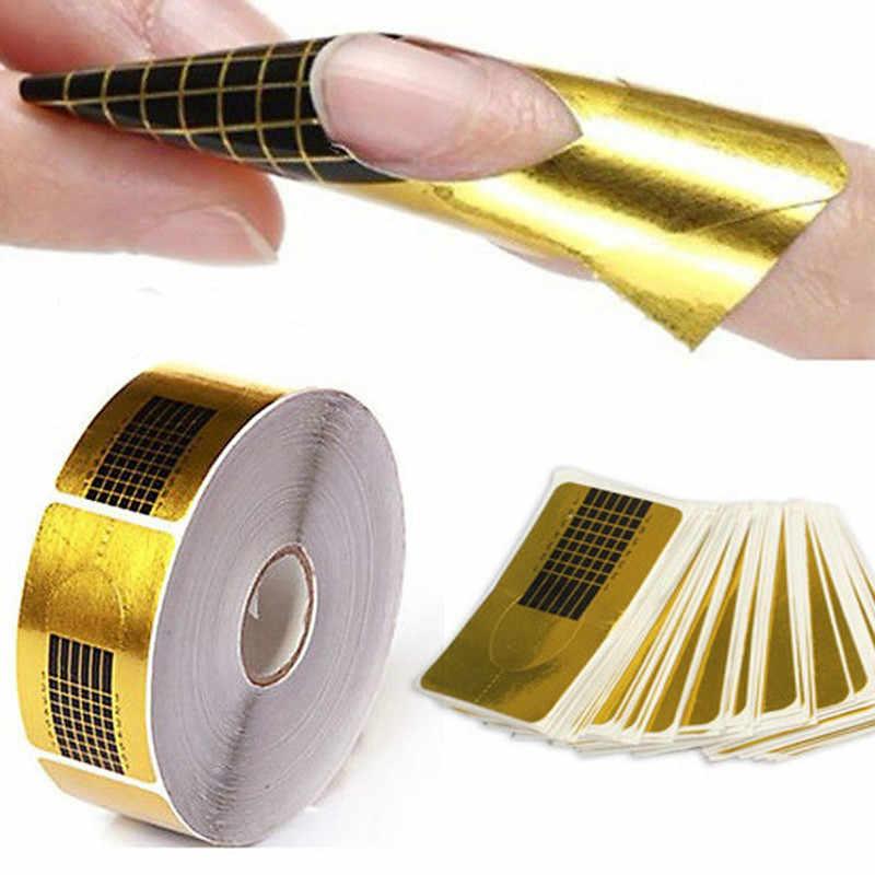 500 Pcs Bentuk Kuku Tips Nail Art Profesional Alat Make Up Akrilik Tip Gel Nails Sticker Bentuk Curl Bentuk Kuku bahasa Polandia Panduan