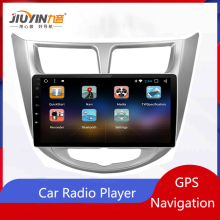 JIUYIN Android Video Player Navigation Car Radio Multimedia GPS for Hyundai Verna Solaris Grand