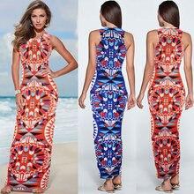 Женское лоскутное платье длинное облегающее по щиколотку пляжные