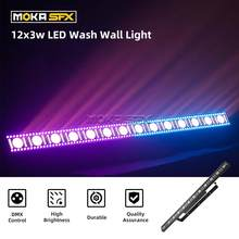 4pcs/lot Light Wall Washer Stage Lighting 12x3w LED Light Bar RGB 3in1 Beam Wash Wall for Bar Disco Party LED Wash Wall Light