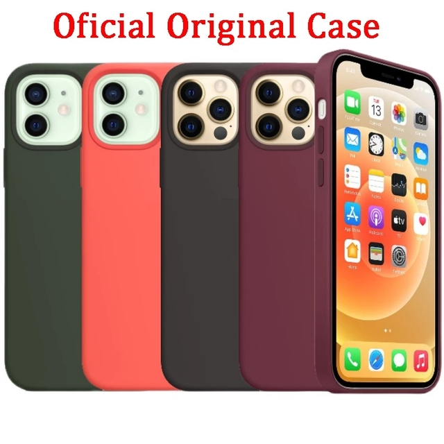 Official Original Silicone Case For iPhone 11 12 Pro MAX SE 2020 XR X 6 6s 7 8 Plus Cases For iPhone 12 mini XS Full Cover etui 6