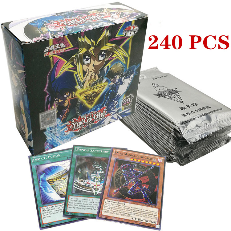 Yugioh lenda convés 240 pcs conjunto com a caixa de yu gi oh anime Game Collection Cartões crianças meninos brinquedos para as crianças figura cartas