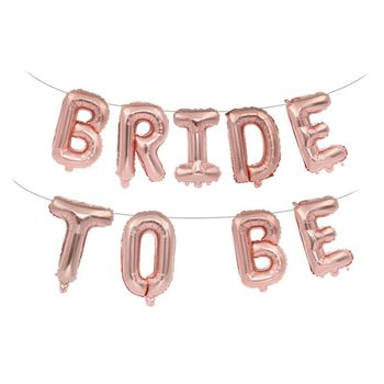 Bride To Be Balloons Rose Gold Party Decoration Crown Miss To Mrs Balloon Team Bride To Be Hen Bachelor Party Decoration Supplie image