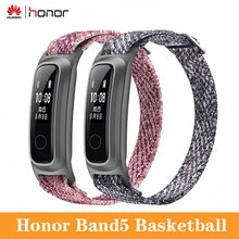 Huawei Honor Band 5 Version de basket-ball données de guidage de course intelligentes moniteur de sommeil étanche Bracelet de sport intelligent tactile(China)