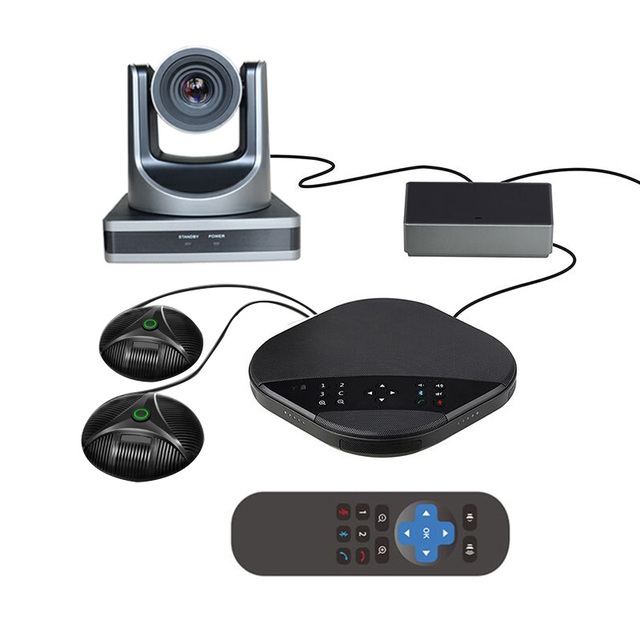 USB Skype Web Video Audio Conference Solution 12X Zoom USB 3.0 Network PTZ Camera with Expansion Microphone Speaker System