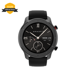 In Lager Amazfit GTR 47mm Lite Smart Uhr Swimproof Smartwatch 24 Tage Batterie für Android ios telefon