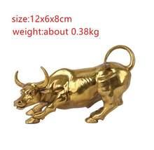 Statue de vache en cuivre, Sculpture de taureau en laiton, Sculpture de rue bovin, mascotte exquise, artisanat, décoration de bureau, cadeau d'af, 100%