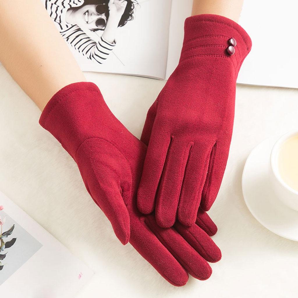 перчатки GlovesWomens Winter Warm Gloves Wrist Mittens Driving Ski Glovewinter Gloves  перчатки женские Rekawiczki 2019 Hot