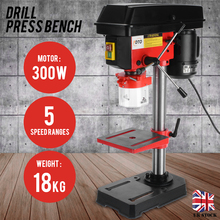 300W Drill Press Bench Adjustable High Speed Bench Drill Top Drilling Vertical Drill Chuck Working Drilling Machine Tools