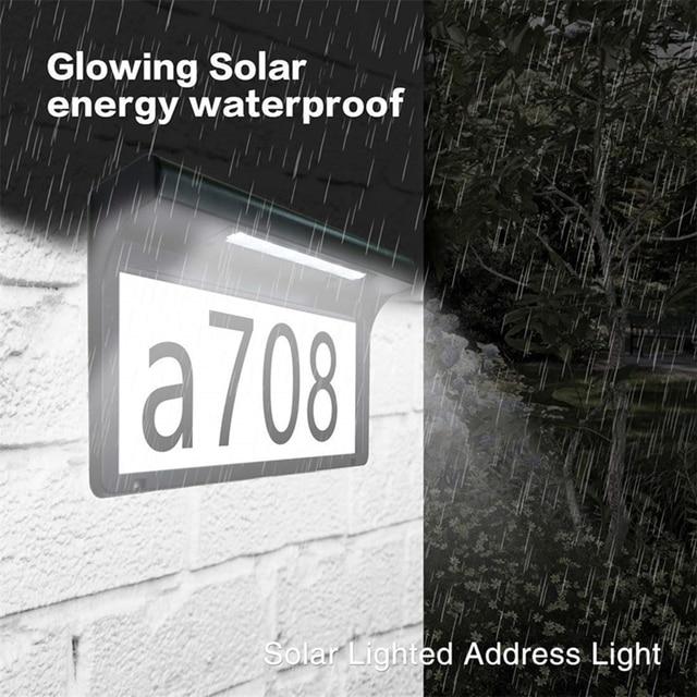 LED Solar Light Outdoor Wall Light House Number Light Address Sign Illuminate for Home Garden Door Plate Wall Lamp Dropshipping