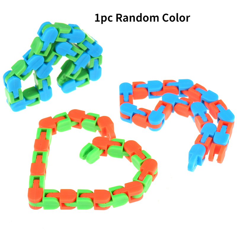 Sensory Toy Fidget-Toys Puzzles Autism Wacky Tracks Snake Snap Random-Color Kids Classic