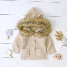 Baby Sweaters Cardigans for Newborn Girls Knitted Jackets Solid Color Infant Toddler Kids Knitwear Tops Hooded Long Sleeve Coats red christmas reindeer knitted baby jacket for girls fall long sleeved sweaters cardigans coats newborn boys winter warm clothes