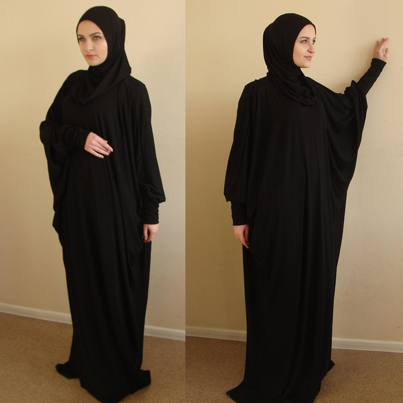 Muslim Prayer Garment Khimar Women Hijab Dress Islamic Clothing Dubai Turkey Namaz Long Prayer Musulman Jurken Abaya Kimono