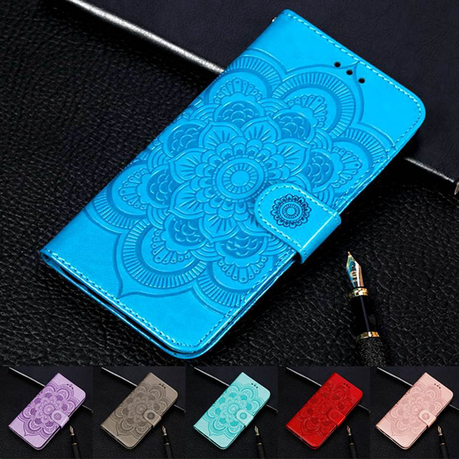 3D Mandala Emboss Flip Case For LG K50 Case LG K 50 Case Wallet PU Leather Cover Phone Case For LG K50 LGK50 Case