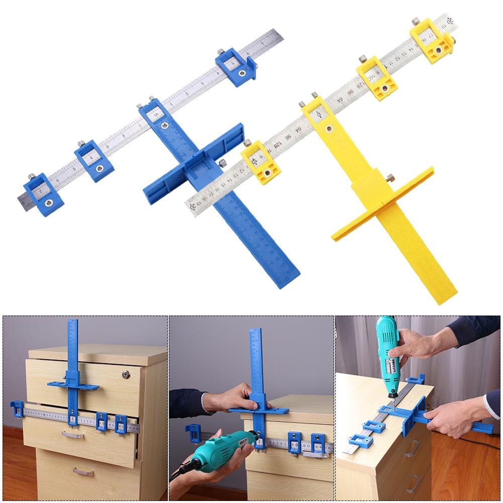 Detachable Hole Punch Jig Tool Center Drill Bit Guide Set Sleeve Cabinet Hardware Locator Wood Drilling Woodworking Tool