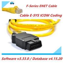 Cabo de dados esys 3.234 v50.3, para bmw enet ethernet para obd, cabo de interface E-SYS icom coding f-series para bmw enet