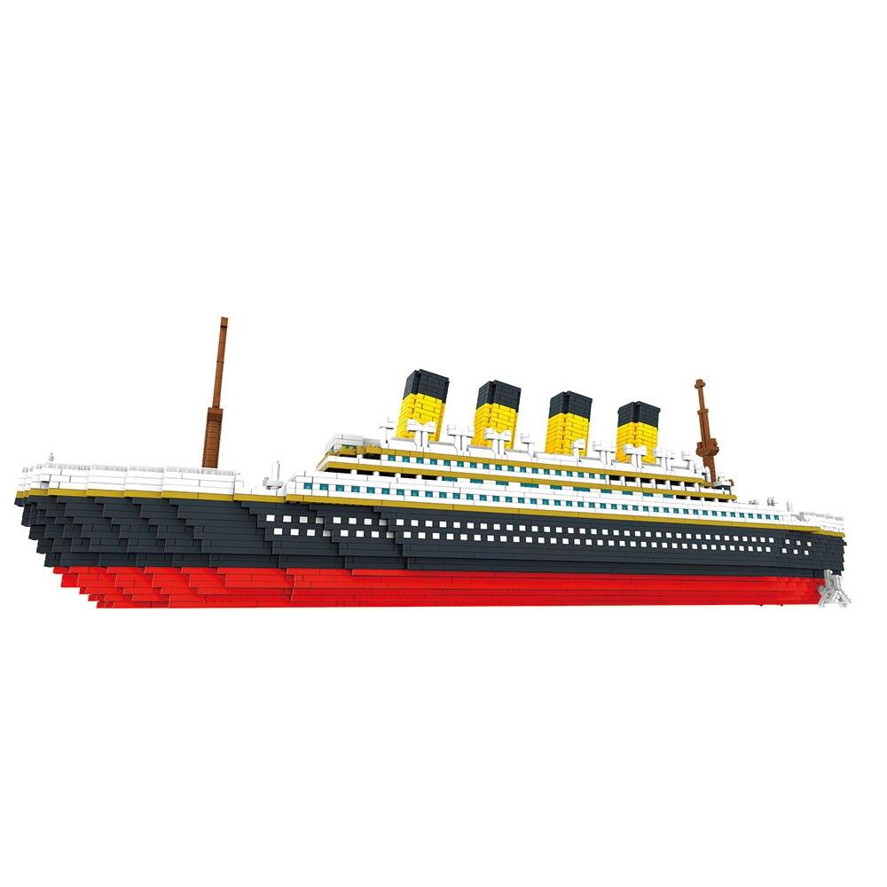 3800 pcs blocos titanic navio de cruzeiro 01