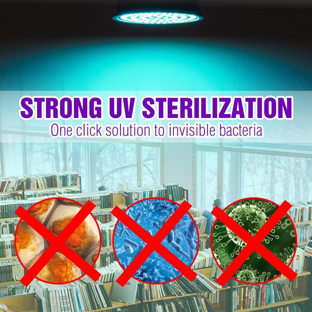 E14 Disinfectant Light GU10 Ultraviolet LED Bulb E27 LED UVC Light Bulb MR16 LED Sterilizer Lamp B22 UV Germicidal Lamp For Home