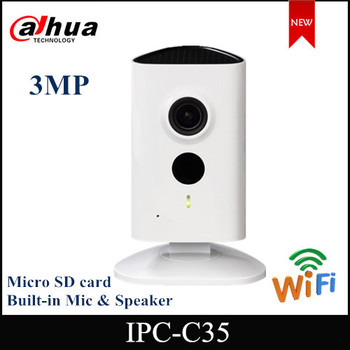 Dahua 3mp Wifi Camera IPC-C35 IP camera security camera  Series WiFi Network Camera HD 1080p Security Camera