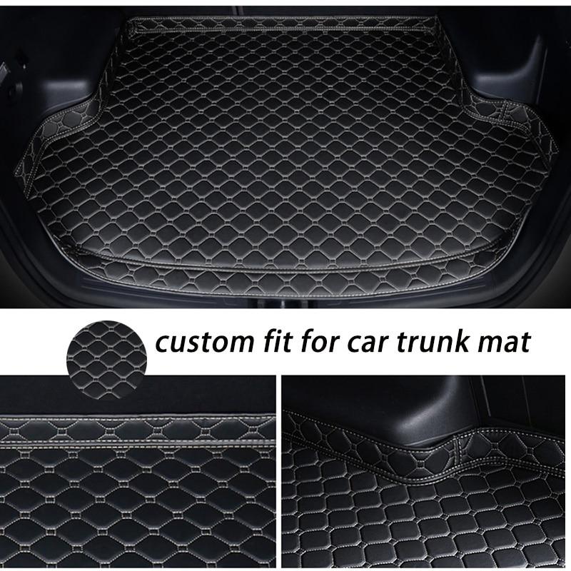 Custom Car Trunk Mat For Audi A6 S6 C5 C6 C7 Allroad Avant 5D Car Styling Rugs Carpet Floor Liners(1997-present)
