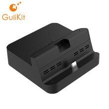 Portable BRICOLAGE Dock pour Nintendo Commutateur, GuliKit NS06 Station D'accueil avec USB-C PD Support De Chargement, Adaptateur et USB 3.0 Port