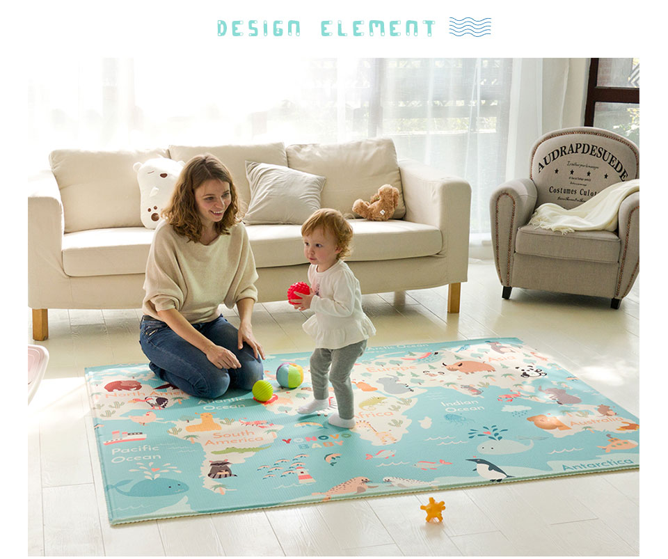 Infantrain Large Puzzle Play Mat Foam Children Carpet Children Rug Thickened Waterproof Crawling Rug For Babies High Density Pad