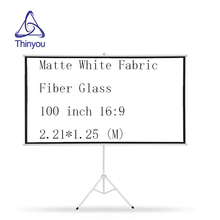 Thinyou projector screen 100 inch 16:9 Tripod Portable Bracket Screen Matte White Fabric Fiber Glass with Stable Stand