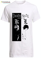 Death Note anime TV fan shirt Manga Ryuk goku Custom naruto bleach akira T-shirt Free shipping Harajuku Tops t