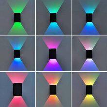 Art Deco Moderne Wand Led Licht Up Down Innen Beleuchtung Aluminium Wand Leuchte Rgb Led Wand Lichter mit Fernbedienung wandlamp