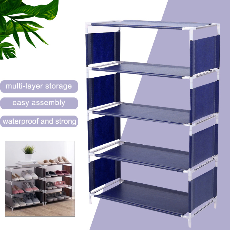 Multi-Storey Shoe Shelf DIY Housekeeping Slipper Space Save Household Supplies Shoe Rack Convenient Home Organization