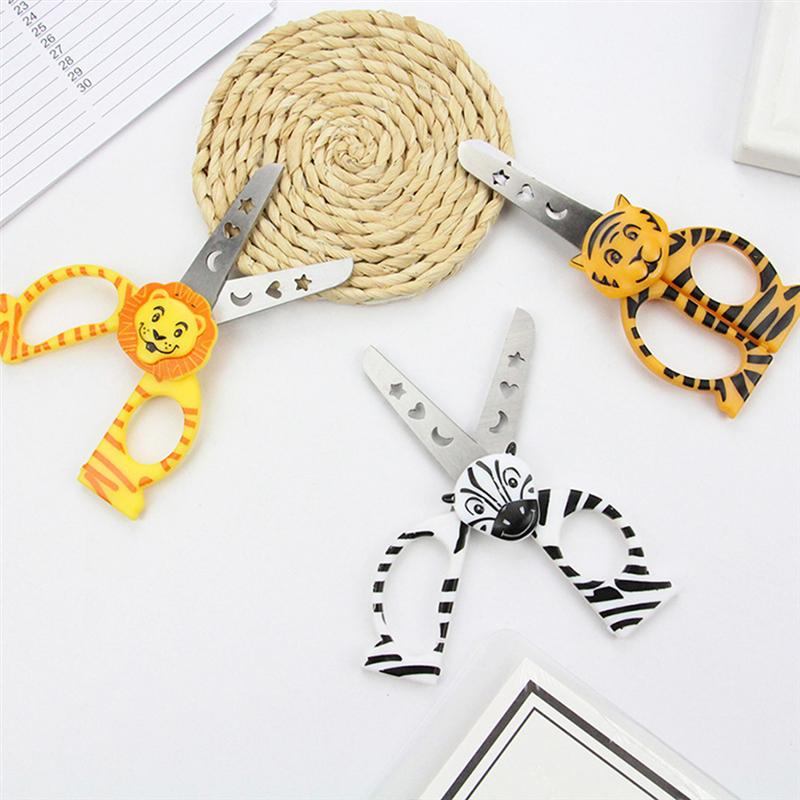 3pcs Animal Scissors Student Paper Cutting Diy Stainless Steel Small Scissors Cartoon Scissors For Diy Handmade