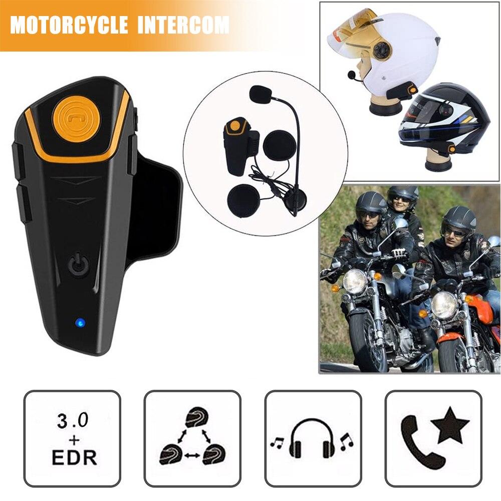 BT-S2 pro capacete da motocicleta interfone moto sem fio bluetooth fone de ouvido à prova dwaterproof água bt interfone com fm