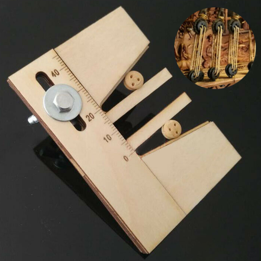 Practical Auxiliary Home Dead Eyes Assembly DIY Wooden Wood Ship Model Kit Adjustable Accessories Fix Hand Mooring Tool
