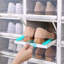 Большая прозрачная коробка для хранения обуви защиты от пыли
