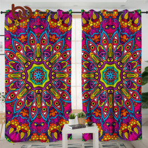 BeddingOutlet Hippie Living Room Curtain Mandala Luxury Curtain Psychedelic Art Kitchen Curtain Colorful Floral Curtain cortinas