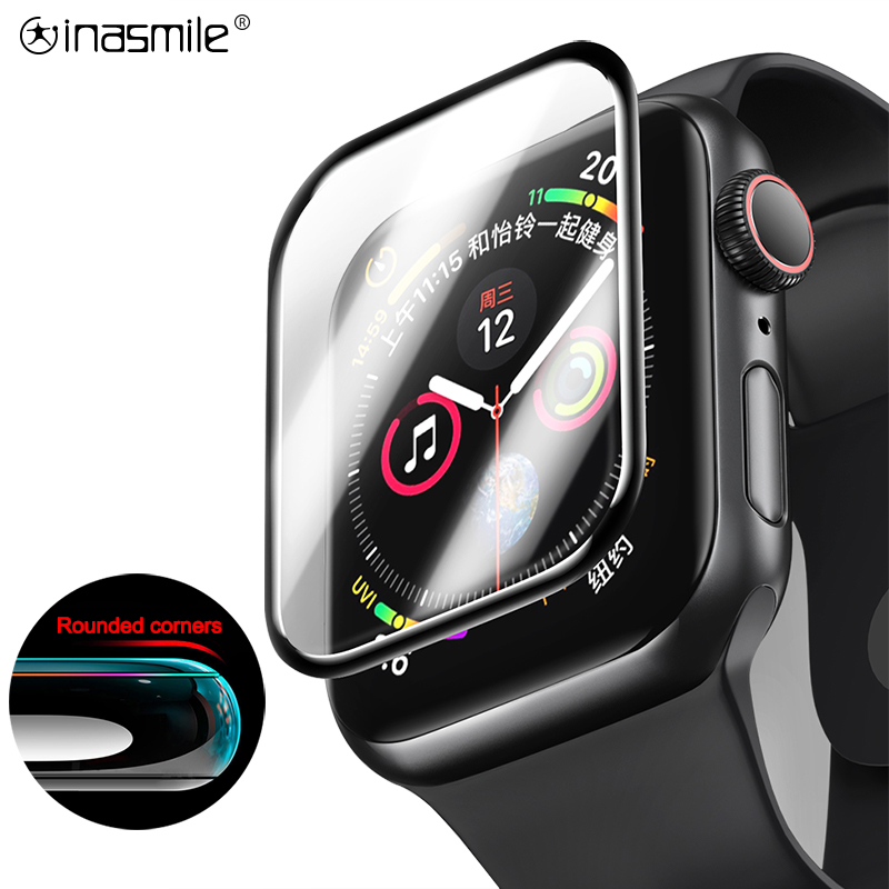 3D Thin Tempered Glass For IWatch 4 3 2 1 Full Coverage Curved Edge For Apple Watch 44mm 40mm 38mm 42 Mm Screen Protector Film