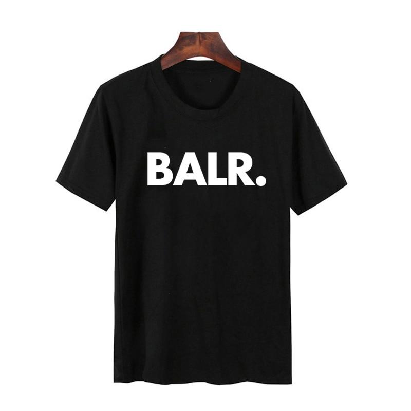 BALR Letter Print   T     Shirt   Men Short Sleeve O Neck Loose Tshirt Summer Men Tee   Shirt   Tops